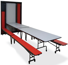 In Wall Cafeteria Tables Folding Equipment Company LLC